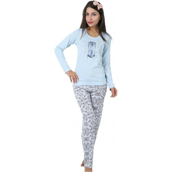 Pijama Largo Manga Larga Mujer London´s