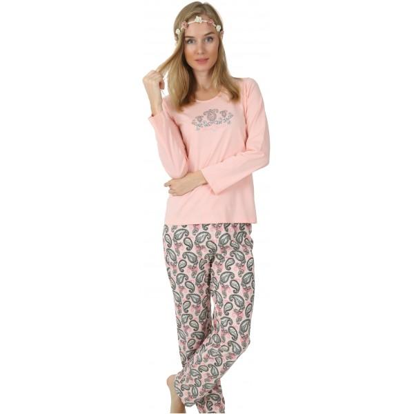 Pijama Largo Manga Larga Mujer Espirales