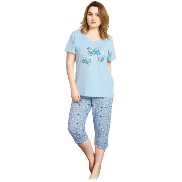 Pijama Talla Grande Pirata Manga Corta Mujer Mariposa Flor