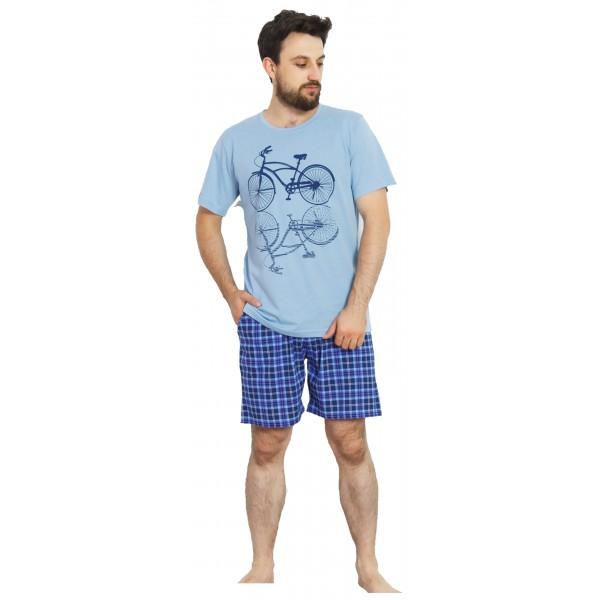 Pijama Hombre Corto Bici
