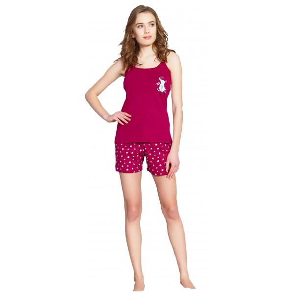 Pijama Corto Manga Tirantes Mujer Conejito