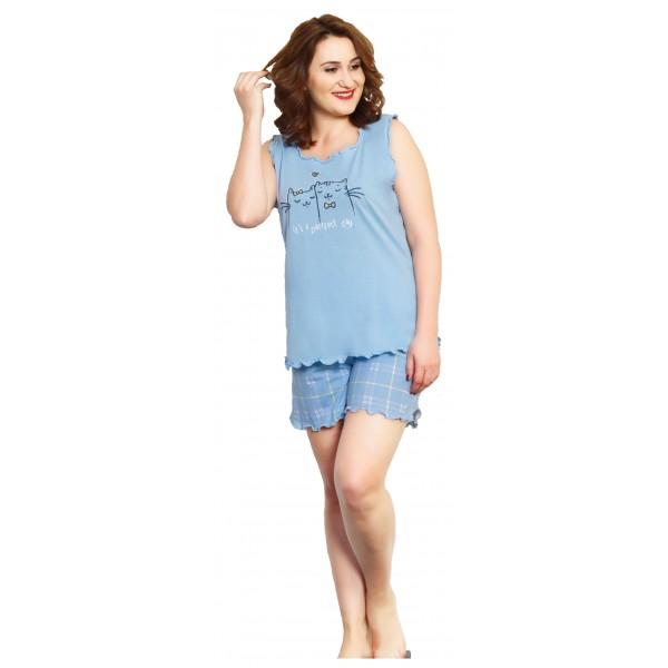 Pijama Talla Grande Corto Tirantes Mujer Purrfect