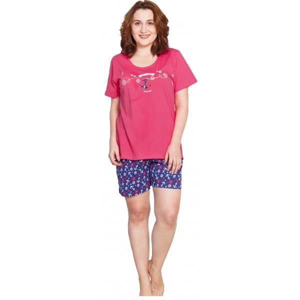 Pijama Talla Grande Corto Mujer Ancla TImes