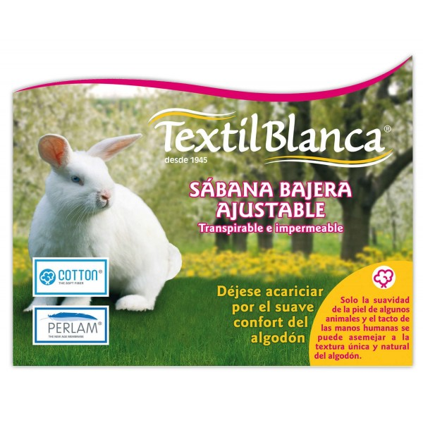 Sabana Bajera 135 Ajustable, Transpirable e Impermeable Cotton