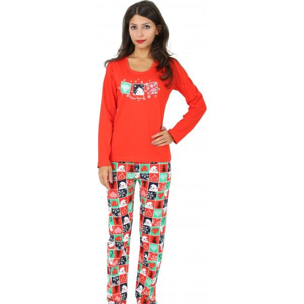 Pijama Largo Manga Larga Mujer Navideño