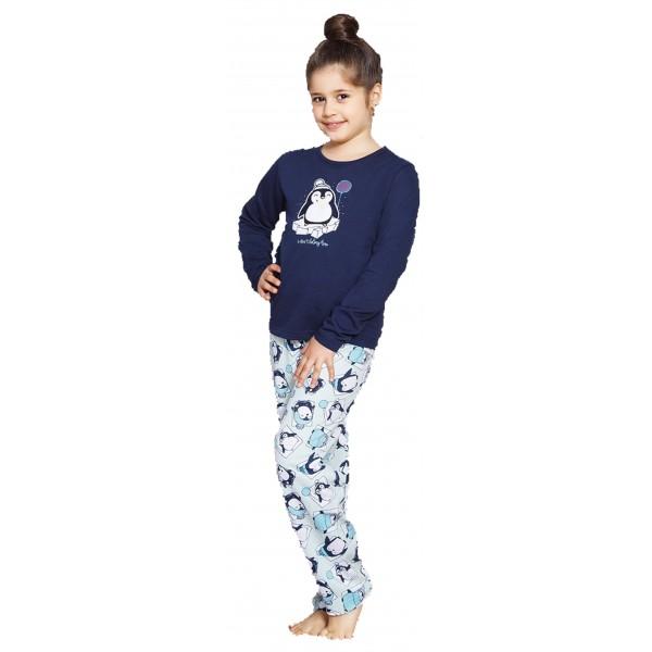 Pijama Perchado/Felpa Manga larga Niña Pinguino