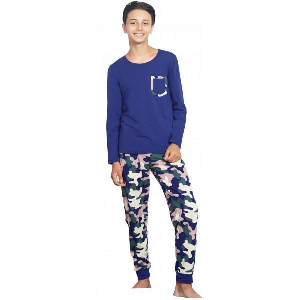 Pijama Manga Larga Niño Camuflaje