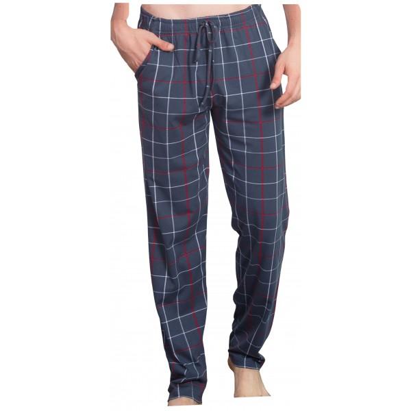 Pantalon Pijama Talla Grande Cuadros Gris/Rojo