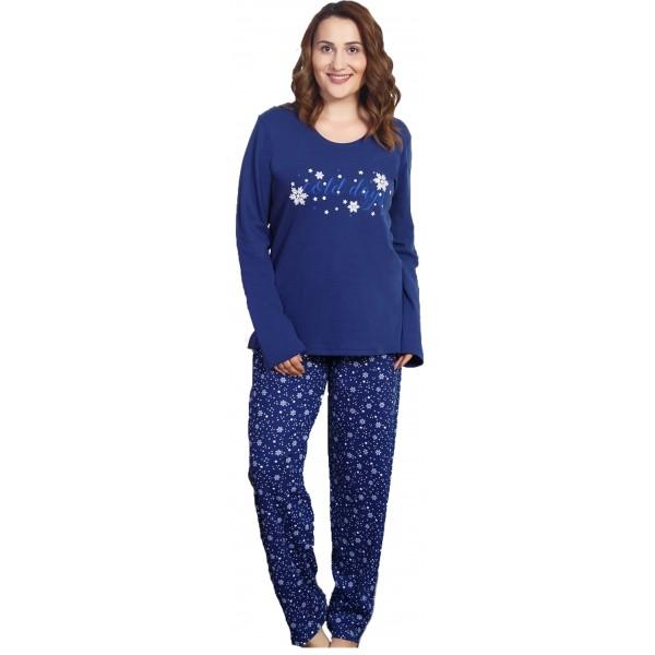 Pijama Talla Grande Perchado/Felpa Largo Manga Larga Mujer Cold Day