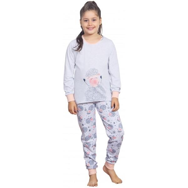 Pijama Largo Manga Larga Niña Puño Ovejitas