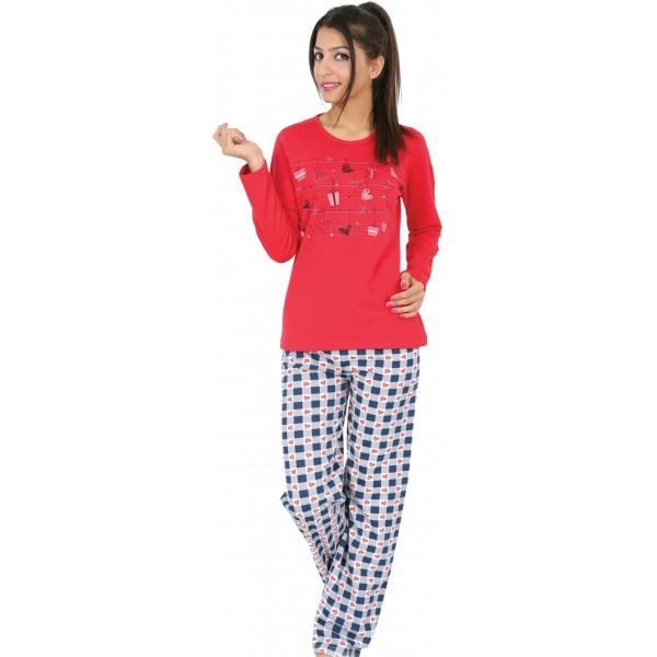 Tendal Pijamas Perchadofelpa Larga Largo Pijama Mujer Manga Y Moda K1TFJ3cl