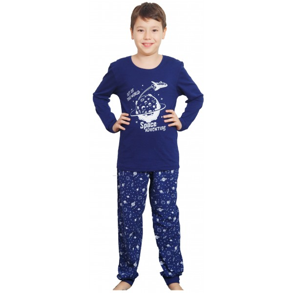 Pijama Manga Larga Niño Puño Space Adventure