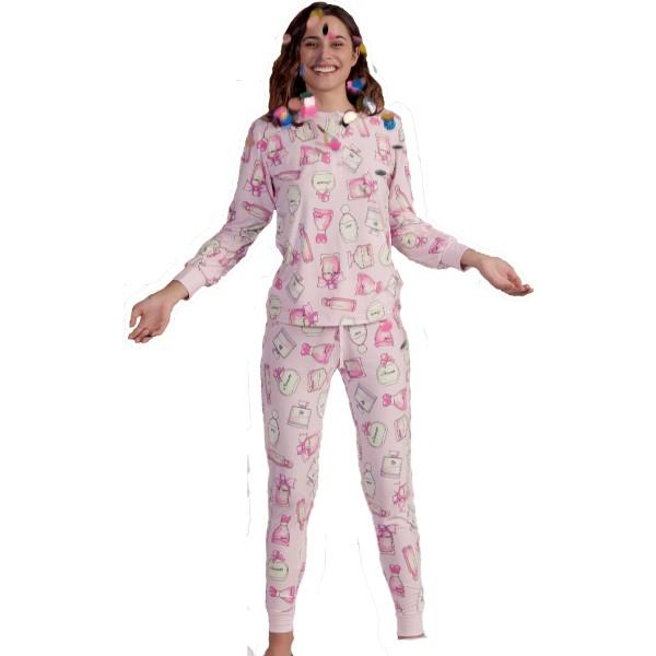 Pijama Largo Manga Larga Mujer Perfumes