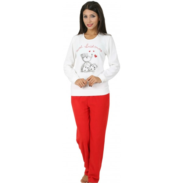 Pijama Polar Largo Manga Larga Mujer Sweet Oso