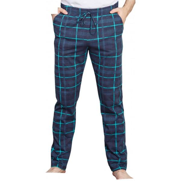 Pantalon Pijama Cuadros Oscuro Marino/Verde