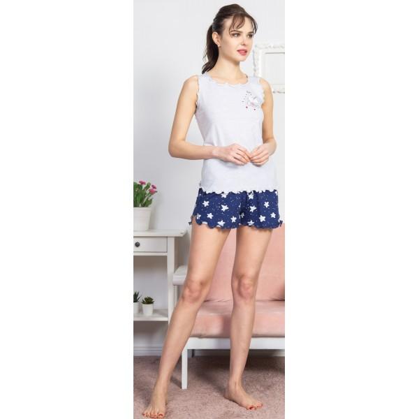 Pijama Corto Manga Tirante Ancho Mujer Little One