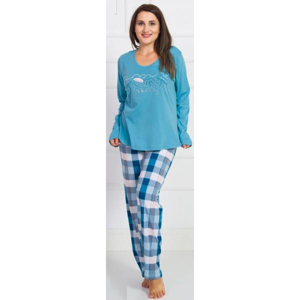 Pijama Talla Grande Largo Manga Larga Mujer Paraguas
