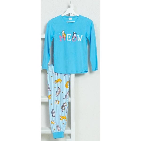 Pijama Manga Larga Niña Puño Meow