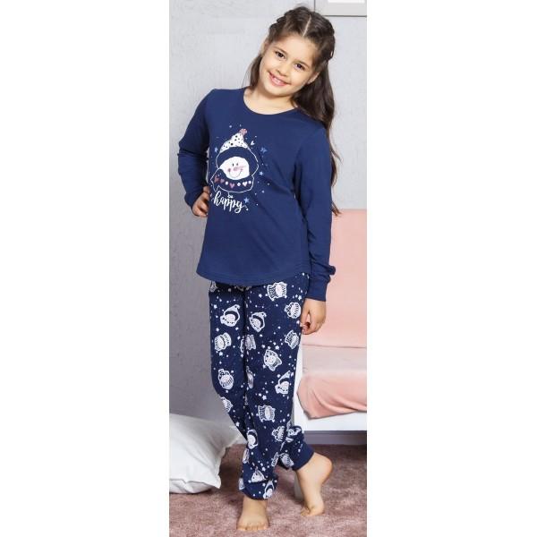 Pijama Manga Larga Niña Puño Happy Muñeco