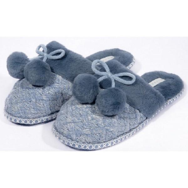 Zapatillas para Casa Mujer Pompon