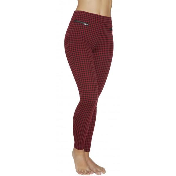 Leggings Mujer Push-Up Fantasia Cuadritos Rojos