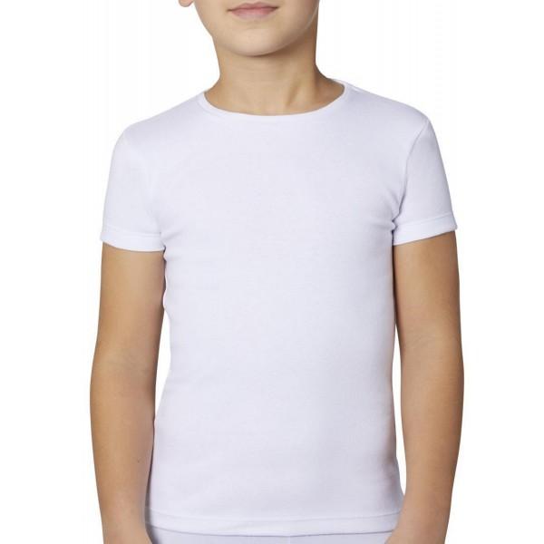 Camiseta Niño/a Manga Corta con Felpa
