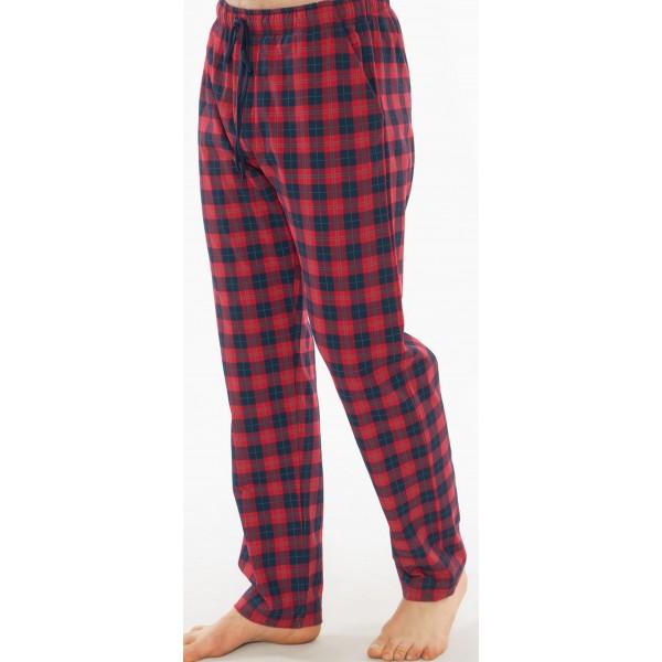 Pantalon Talla Grande Unisex Cuadro Rojo