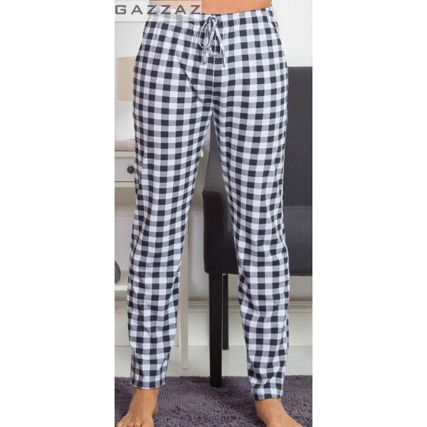 Pantalon Talla Grande Unisex Cuadro Marino/Blanco