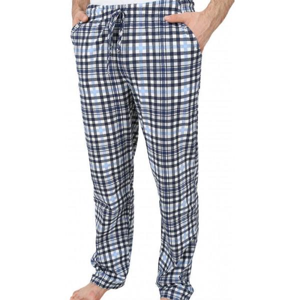 Pantalon Talla Grande Unisex Cuadro Azul