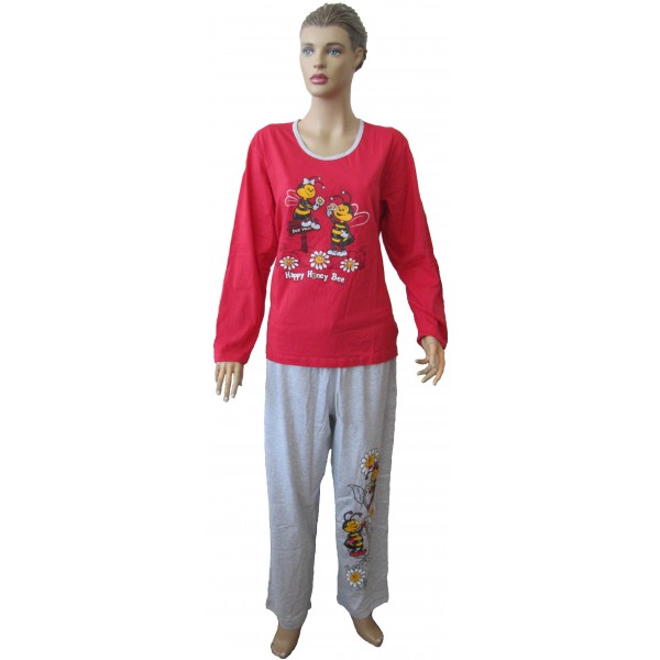 Pijama Talla Grande Largo Manga Larga Mujer 2 Abejas