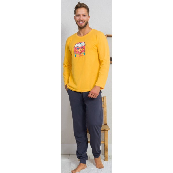 Pijama Hombre Largo Manga Larga Happy