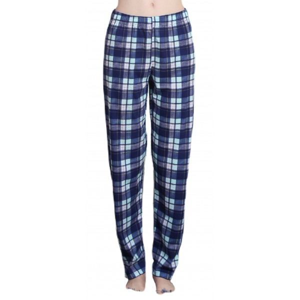 Pantalon Talla Grande Pijama Mujer Azul