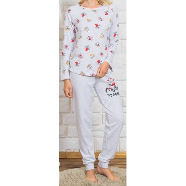 Pijama Perchado/Felpa Manga Larga Niña Koala