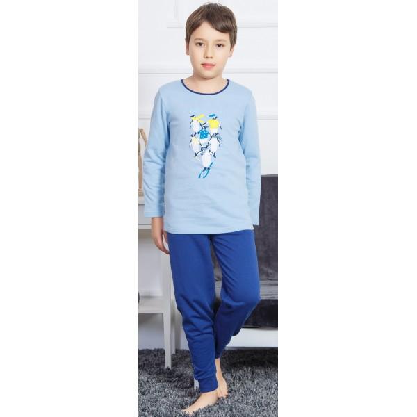 Pijama Perchado/Felpa Manga Larga Niño Pinguino