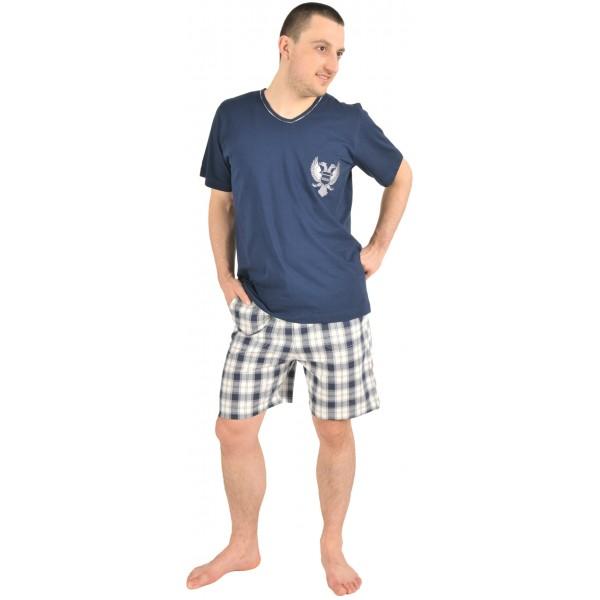 Pijama Hombre Corto Manga Corta Clasico