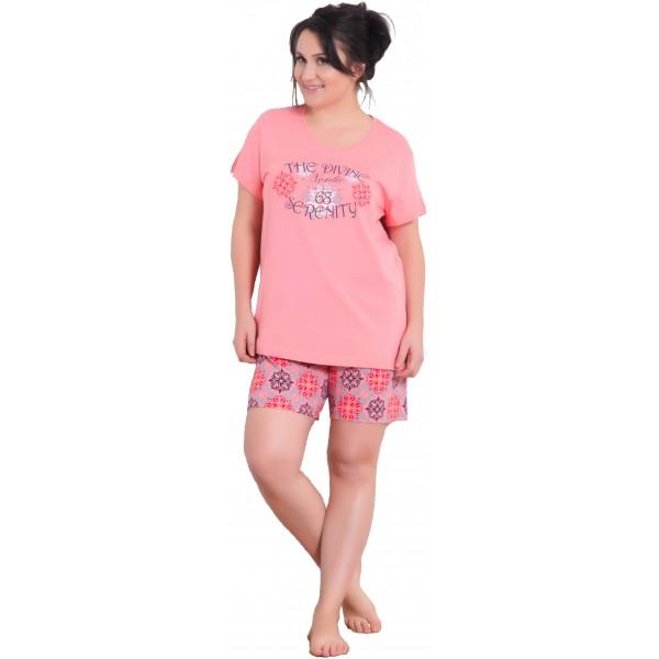 Pijama Talla Grande Corto Manga Corta Mujer The Divine