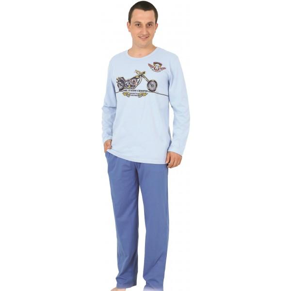Pijama Hombre Largo Moto Vintaje