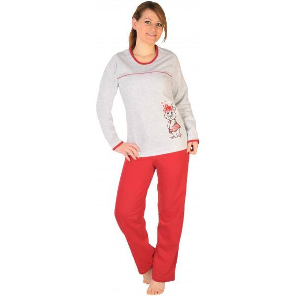 Pijama Perchado/Felpa Largo Manga Larga Mujer Ardilla Lazo