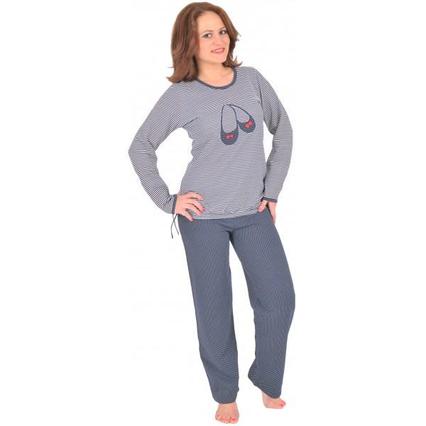 Pijama Perchado/Felpa Largo Manga Larga Mujer Zapatito