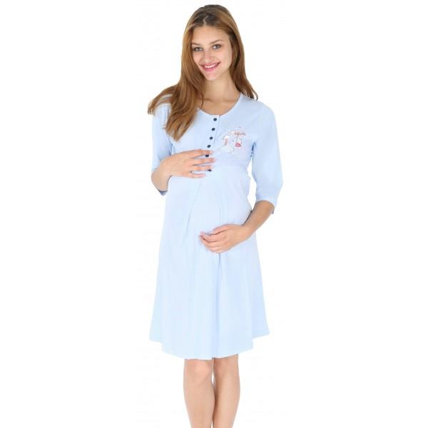 Camison Lactancia/Embarazada Manga 3/4 Cigüeña